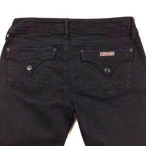 HUDSON Signature Skinny Jeans Black Women's 28